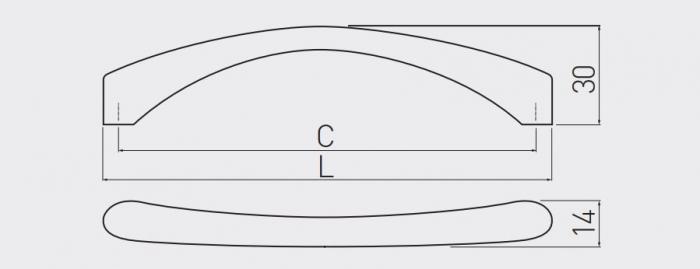 Maner mobila CLEO 128 mm, cromat [3]