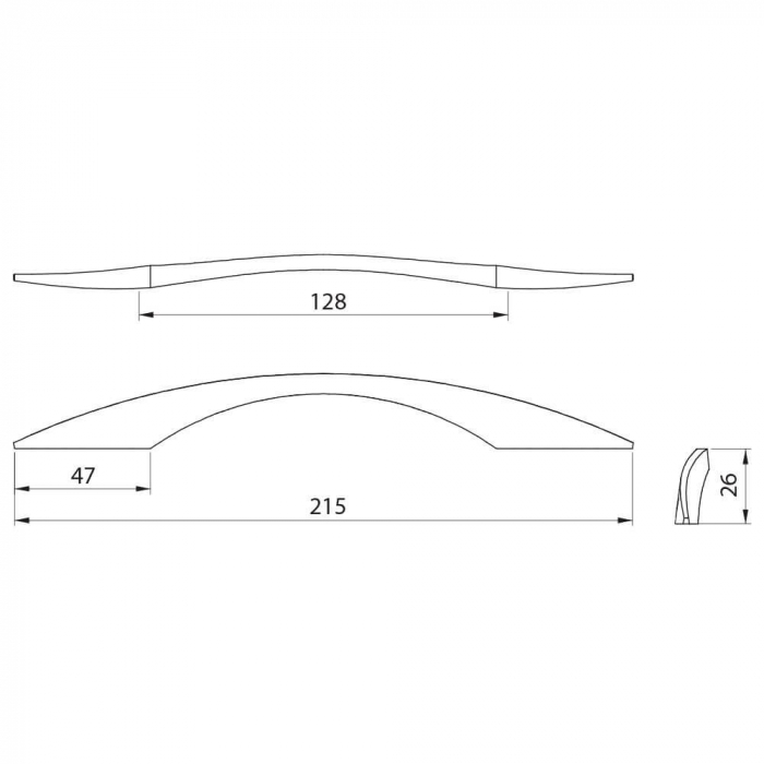 Maner mobila EAST 128 mm, titan [3]