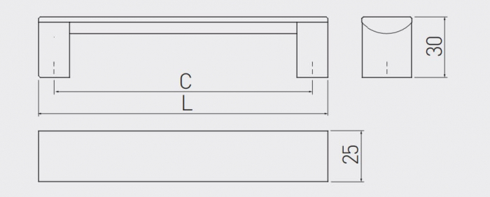 Maner mobila Ares 320 mm, negru mat [2]