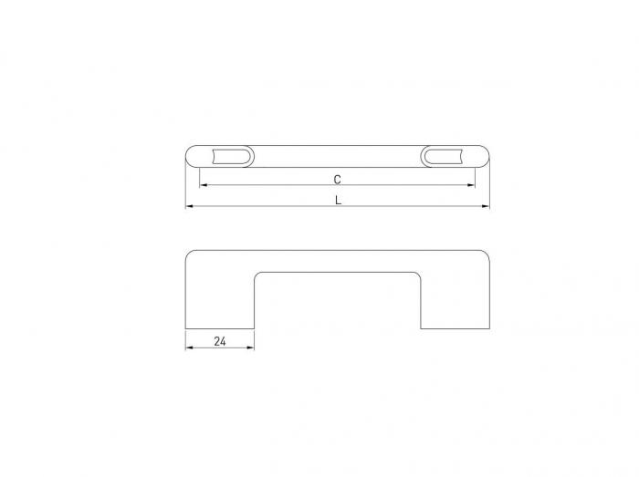 Maner mobila CAPRI 128 mm, negru mat [1]