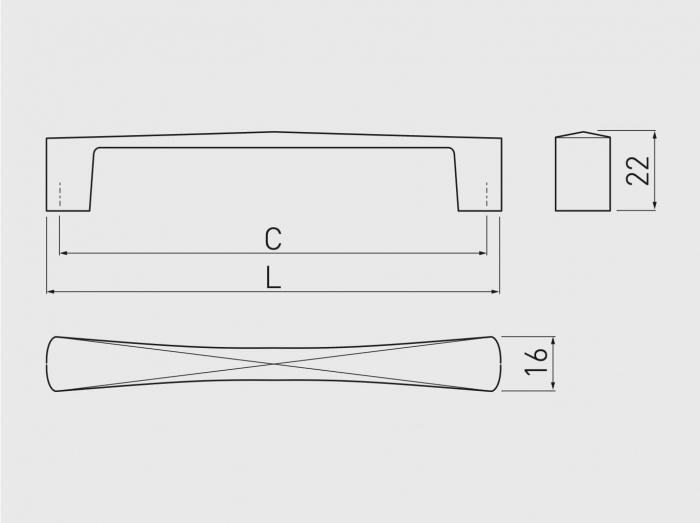 Maner mobila COMO 128 mm, cromat [3]