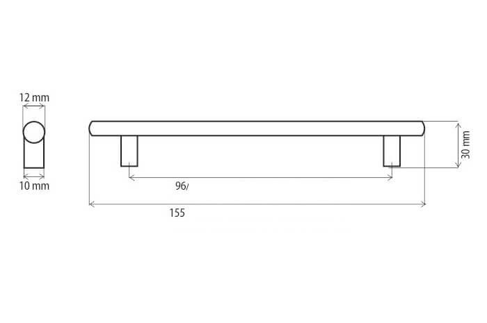 Maner mobila DR10 96 mm, negru mat [1]