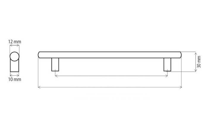 Maner mobila DR10 160 mm, negru mat [1]