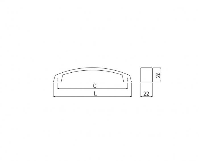 Maner mobila G1 160 mm, negru mat [2]