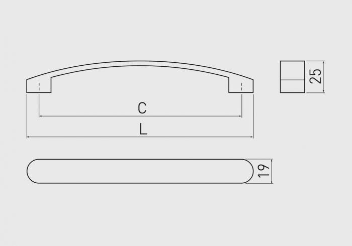 Maner mobila GENUA 160 mm, satinat [1]