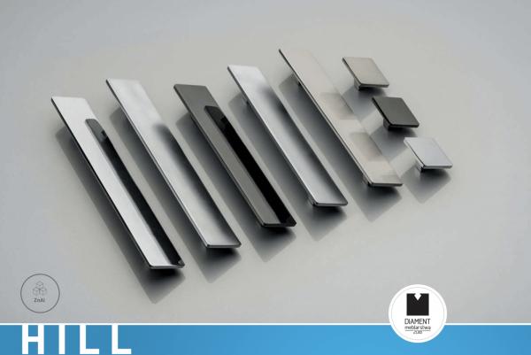 Maner mobila HILL 128 mm, cromat [1]