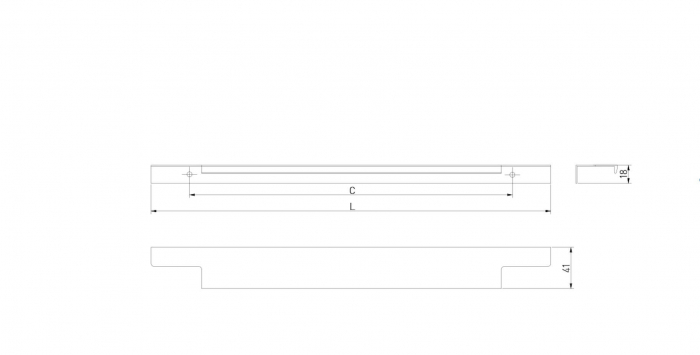 Maner mobila LIND 296 mm, auriu [3]