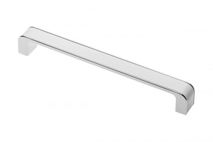 Maner mobila MONA 128 mm, alb crom [0]
