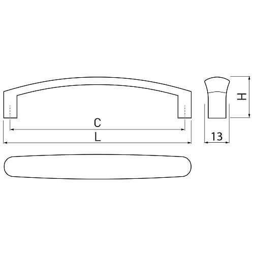 Maner mobila Olbia 128 mm, alama antichizata [3]