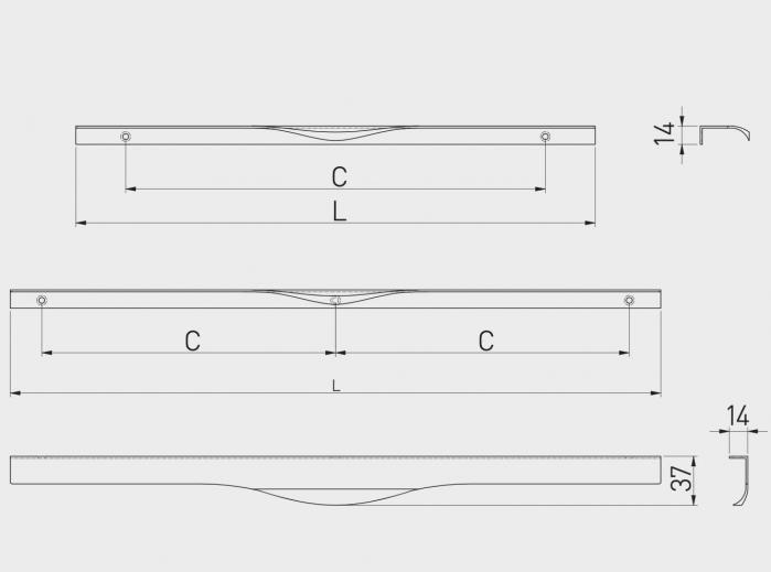 Maner mobila PICADO 296 mm, cromat [2]