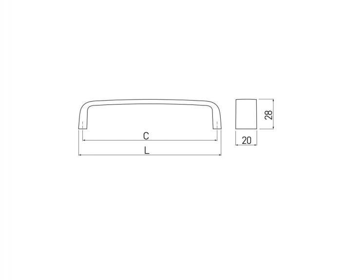 Maner mobila UZ-133 128 mm, negru mat [1]