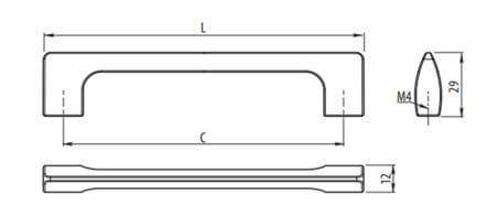 Maner mobila UZ-814 256 mm, aluminiu 2