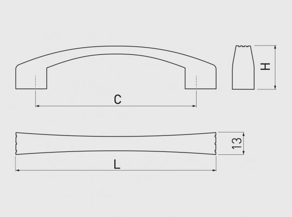 Maner mobila VASTO 128 mm, alama antichizata 1
