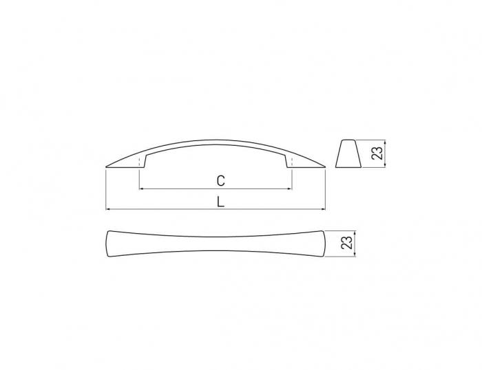Maner mobila Z10 128 mm, negru mat [1]