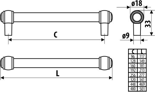 Maner mobila SIPARIO 160 mm, cromat 2