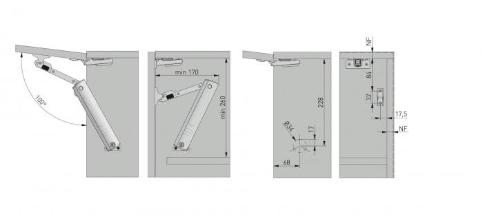 Piston de ridicare MINILIFT Medium 3.5-4.5 kg 8