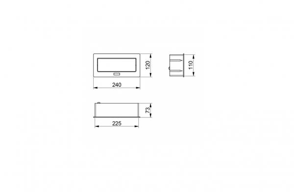 Priza incorporabila in blat 2xSchuko, 2 USB, Cablu inclus, Negru Mat 1