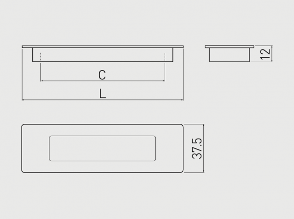 Maner mobila ingropat E6 128 mm, Aluminiu 1