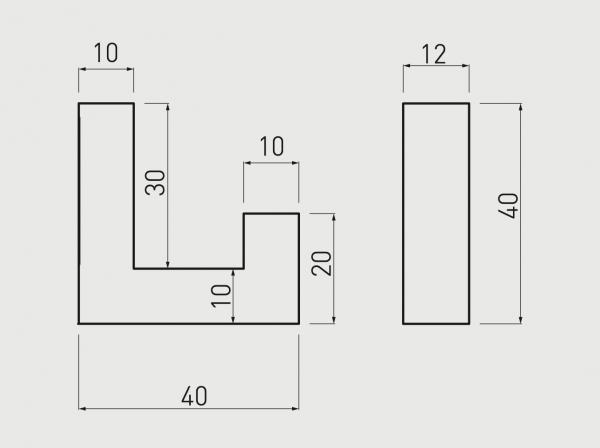 Agatatoare cuier K2201 12x40 mm, negru mat 1