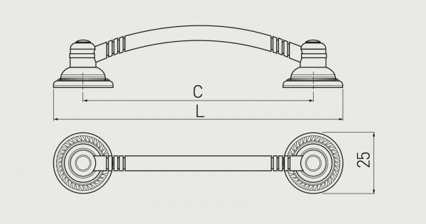 Maner mobila RENNES 96 mm, alama periata 1