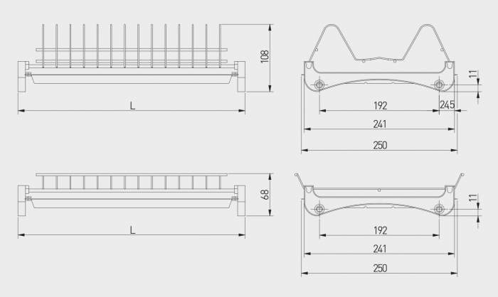 Scurgator (picurator) vase, doua nivele, corp mobilier 600 mm, pal 18 mm [3]