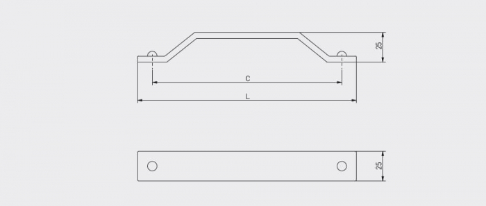 Maner mobila STEP 160 mm, negru mat [1]
