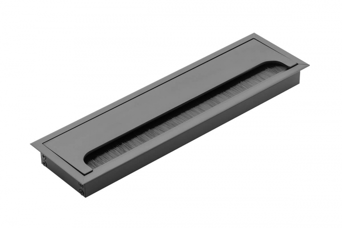Trecere cabluri MERIDA 80x280 mm, negru mat [0]