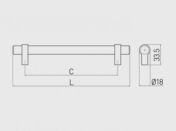 Maner mobila TRIEST 160 mm, otel periat [3]