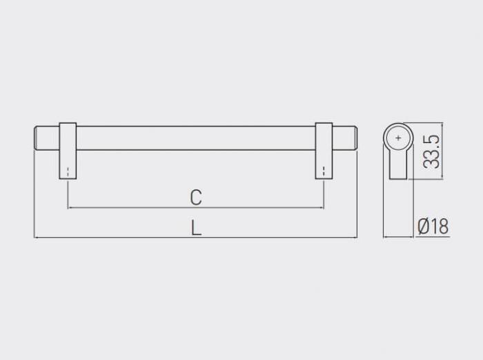 Maner mobila TRIEST 96 mm, otel periat [4]