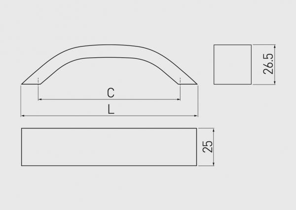 Maner mobila UA-337 128 mm, negru mat 1