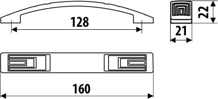Maner mobila UR27 128 mm, alama antichizata 2