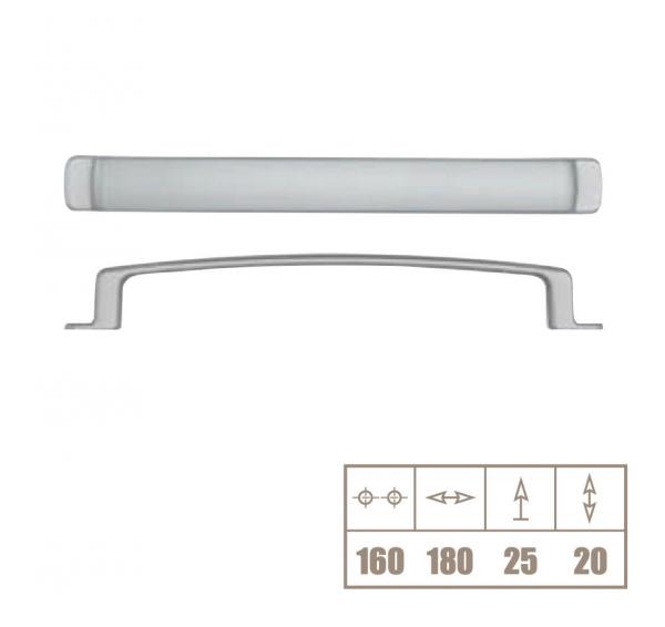 Maner mobila WMN112 160 mm, otel periat [1]