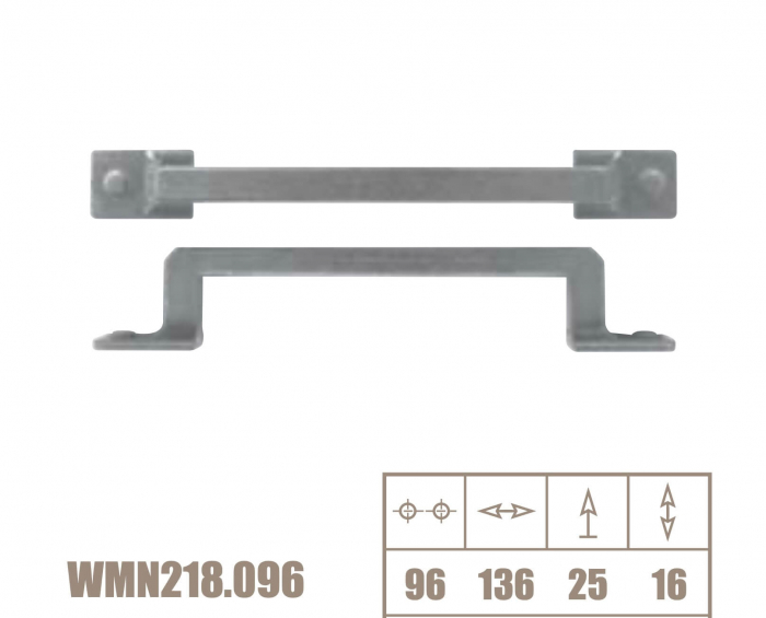Maner mobila WMN218 96 mm, alama antichizata [2]