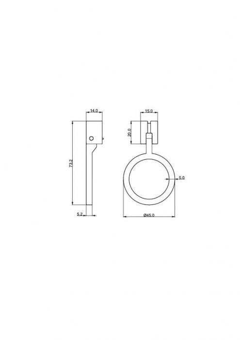Buton mobila WMN874 45 mm, auriu [2]