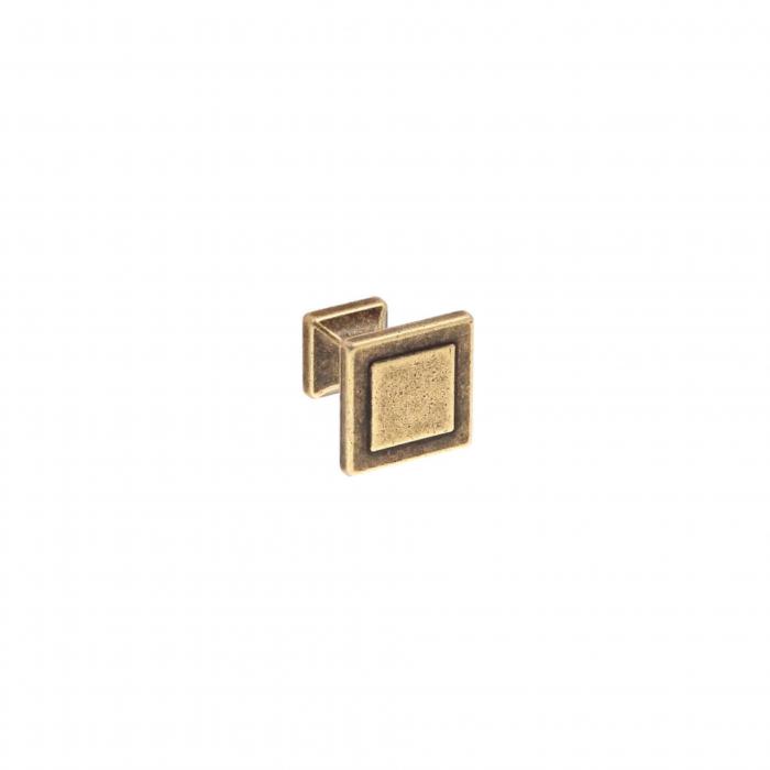 Buton mobila WPO115 24x24 mm, alama antichizata [0]