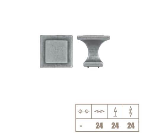 Buton mobila WPO115 24x24 mm, alama antichizata [1]