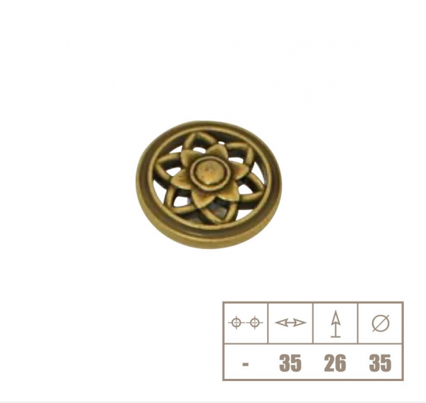 Buton mobila WPO645, alama antichizata 1