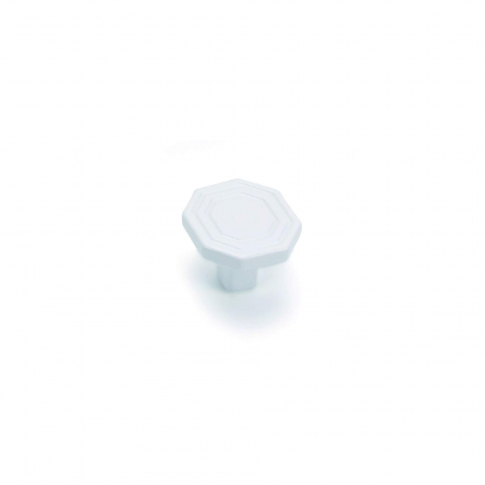 Buton mobila WPO824 30x23 mm, alb mat [0]