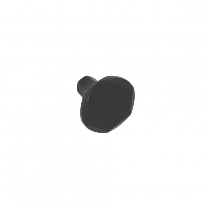 Buton mobila WPO826 30x24 mm, negru mat [0]