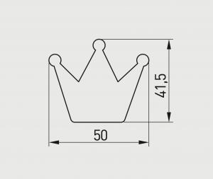 Buton mobilier copii Crown, roz, 50x41 mm1