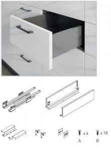 Sertar AxisPro 450 mm, High, Antracit, H167 mm, C1