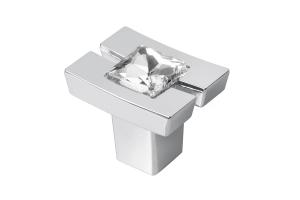 Buton mobila CRYSTAL 71C, cromat [0]