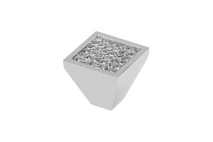 Buton mobila Glamour Crystal 30x28.5 mm0