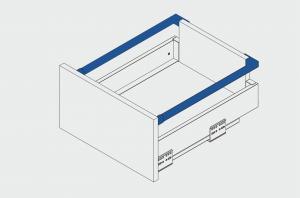 Set lonjeroane pentru sertar AxisPro 450 mm, antracit [1]