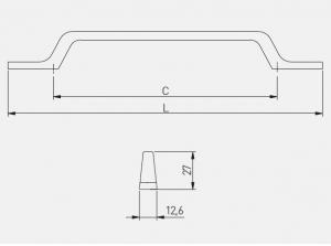Maner mobila FLAVIO 128 mm, alama [4]