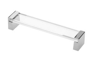 Maner mobila OLIVA 160 mm, crom si acryl transparent0