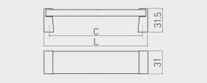 Maner mobila OLIVA 160 mm, crom si acryl transparent2