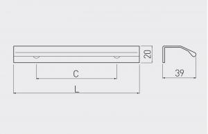 Maner mobila TREX 150 mm, negru mat [1]