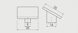 Buton mobila HILL Cromat [1]