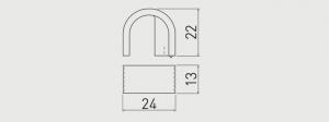 Buton mobila VETA 24x22 mm, negru crom [2]
